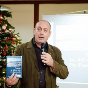 Emil Mitrache la lansarea primei cărți semnată de Adriana Ungureanu