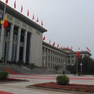 Tricolorul Romaniei la Guvernul chinez Dan Tomozei