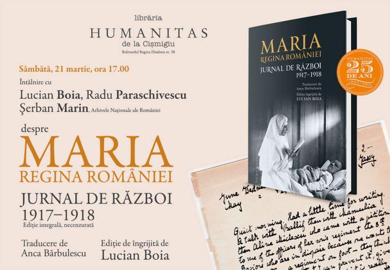 """Lucian Boia, Şerban Marin şi Radu Paraschivescu despre """"Jurnalul de război"""" al reginei Maria a României"""