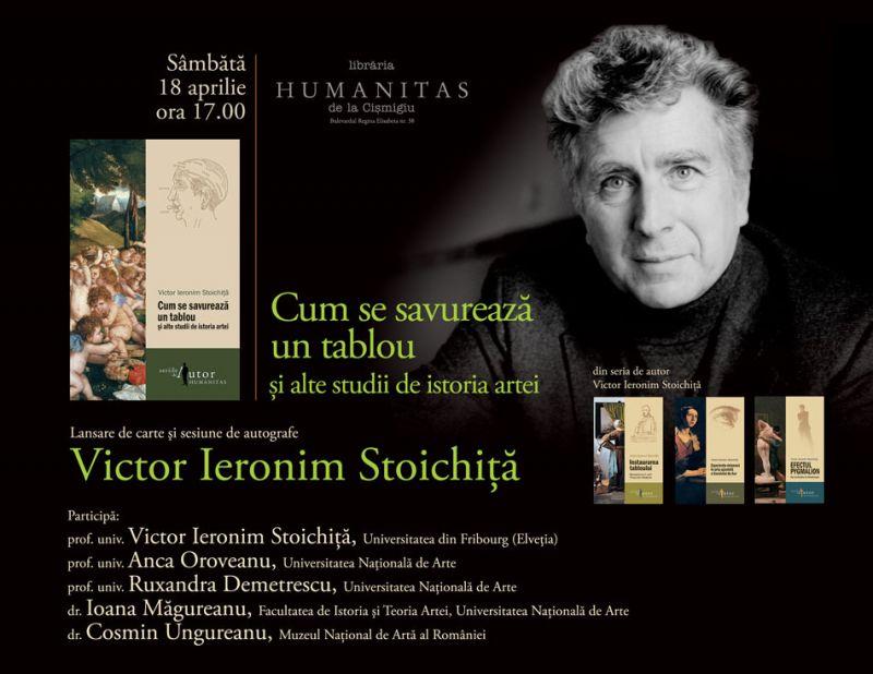 Sâmbătă, lansare de carte la Humanitas din Cișmigiu