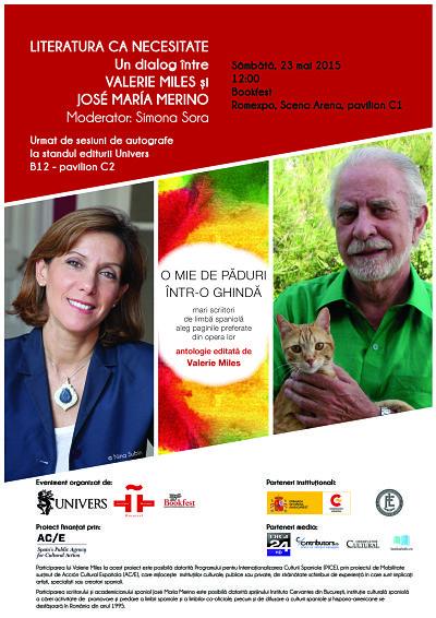 Editura Univers vine cu doi scriitori spanioli la Bookfest