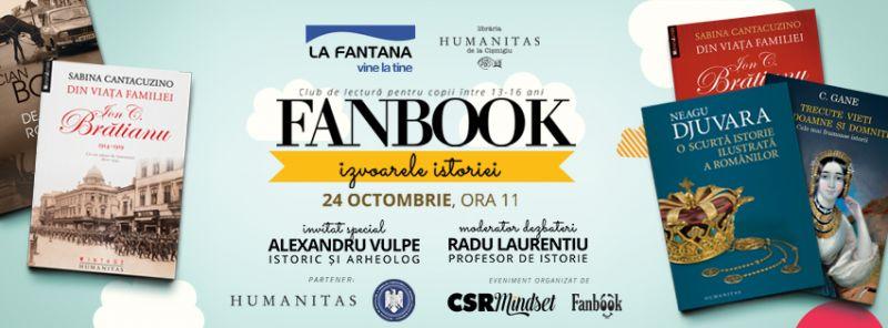 """Fanbook, clubul de lectură al copiilor, despre """"Izvoarele istoriei"""""""