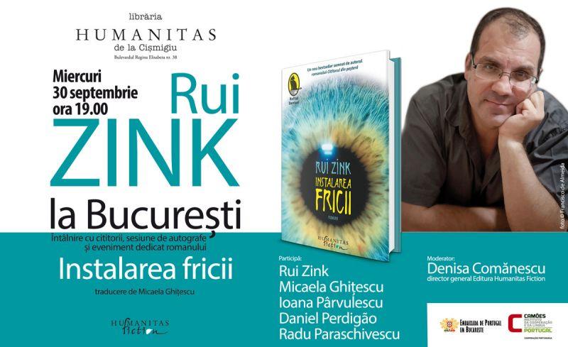Rui Zink a lansat în România noul său roman