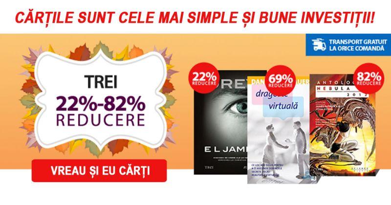 Reduceri de cărți la Editura Trei între 22%-88%