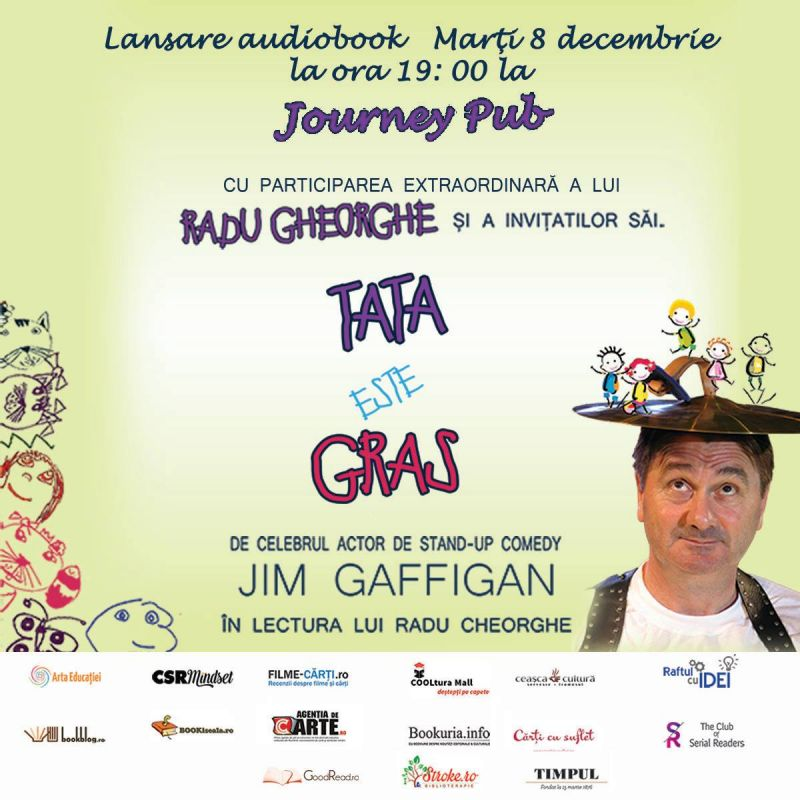 """Lansare carte și audiobook """"Tata este gras"""" de Jim Gaffigan"""