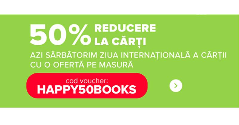 50% Reducere la cărți de Ziua Internațională a Cărții