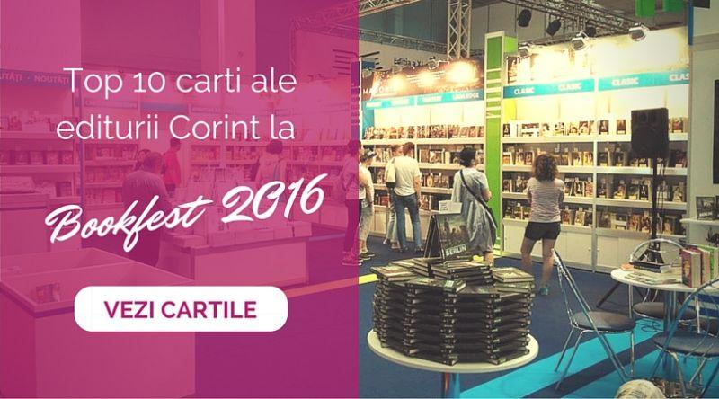 Top 10 cărți ale editurii Corint la Bookfest 2016