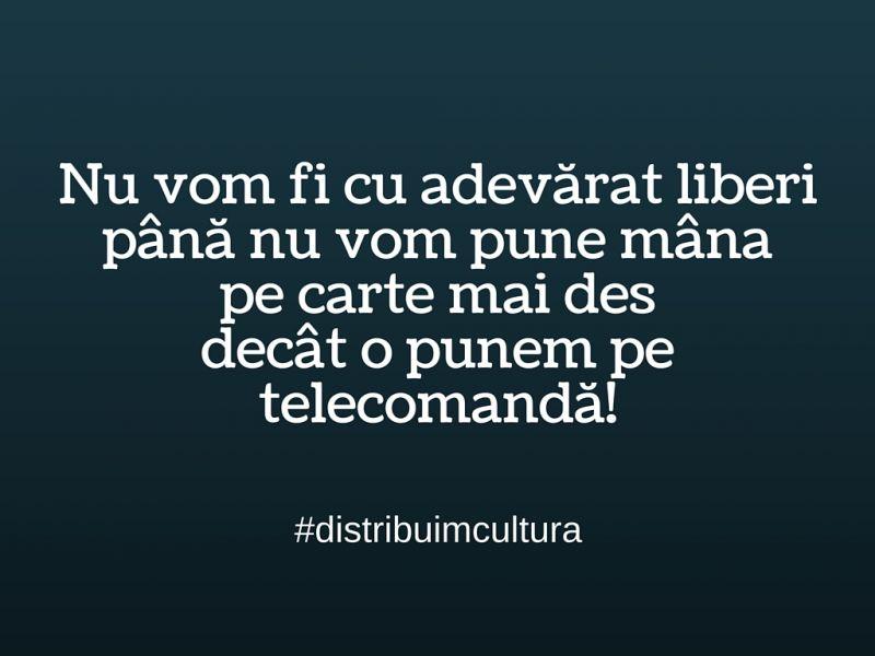 Cartea, Telecomanda și Libertatea.