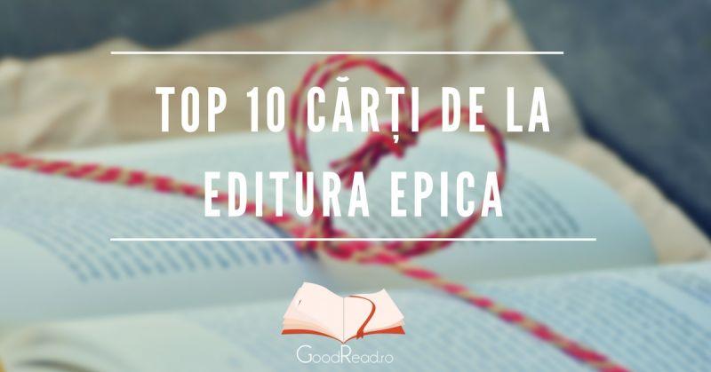 Top 10 Cărți romantice Editura Epica