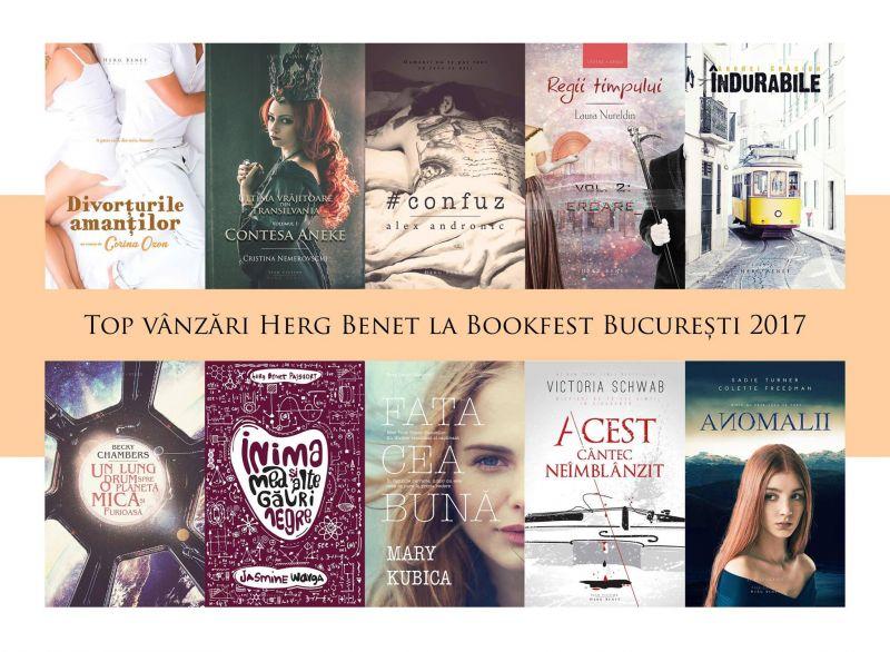 Top Vânzări Herg Benet – Bookfest 2017