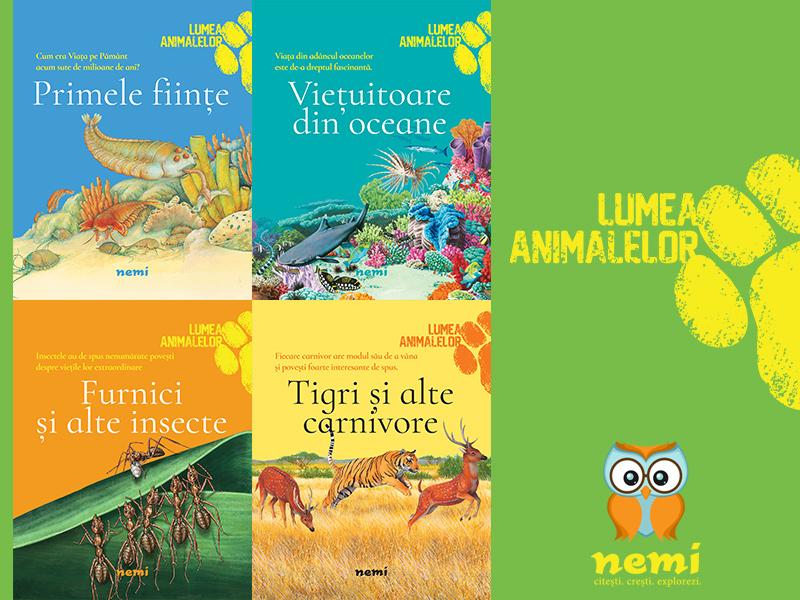 Editura Nemi pentru copii lansează patru cărți spectaculoase pentru micii exploratori curioși, scrise de Olivia Brookes