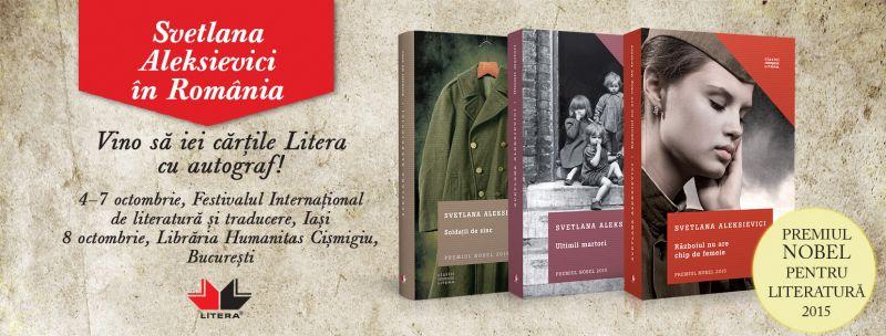 Laureata Premiului Nobel pentru Literatură 2015,  Svetlana Aleksievici, vine în România
