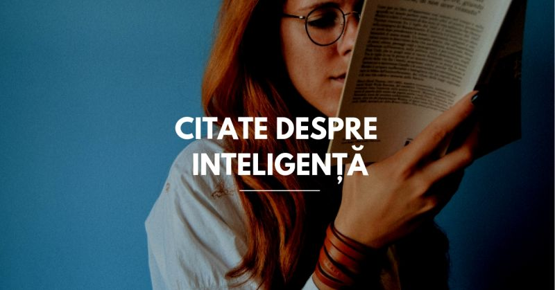 citate despre inteligență