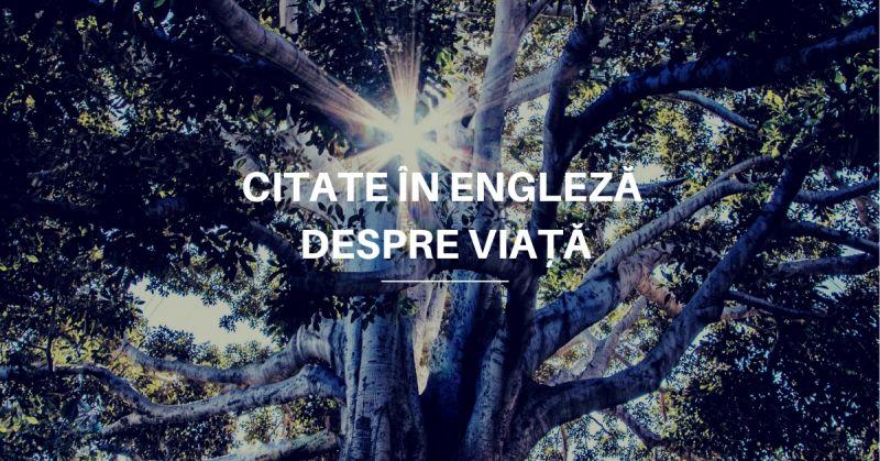 Citate în Engleză despre Viață