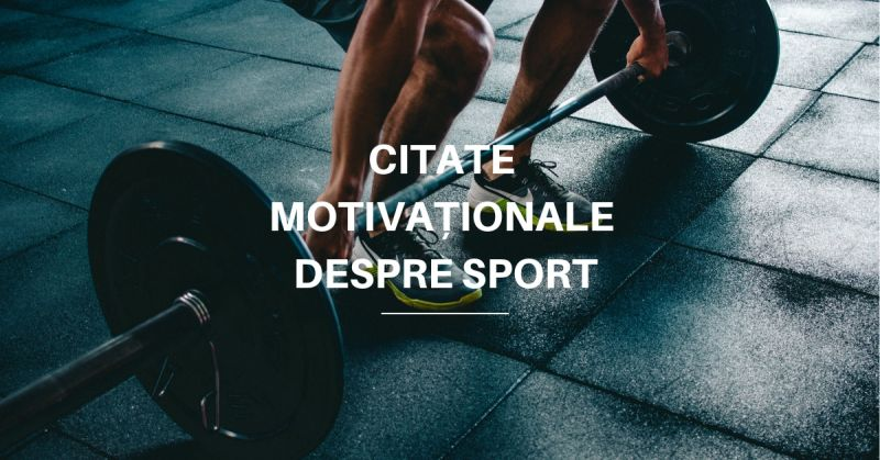 citate motivationale sport
