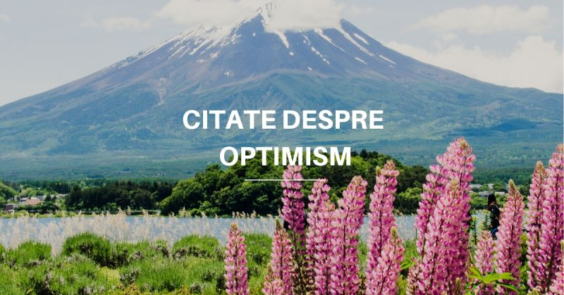 citate despre optimism
