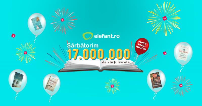 17 milioane de cărți. Milioane de români mai fericiți.