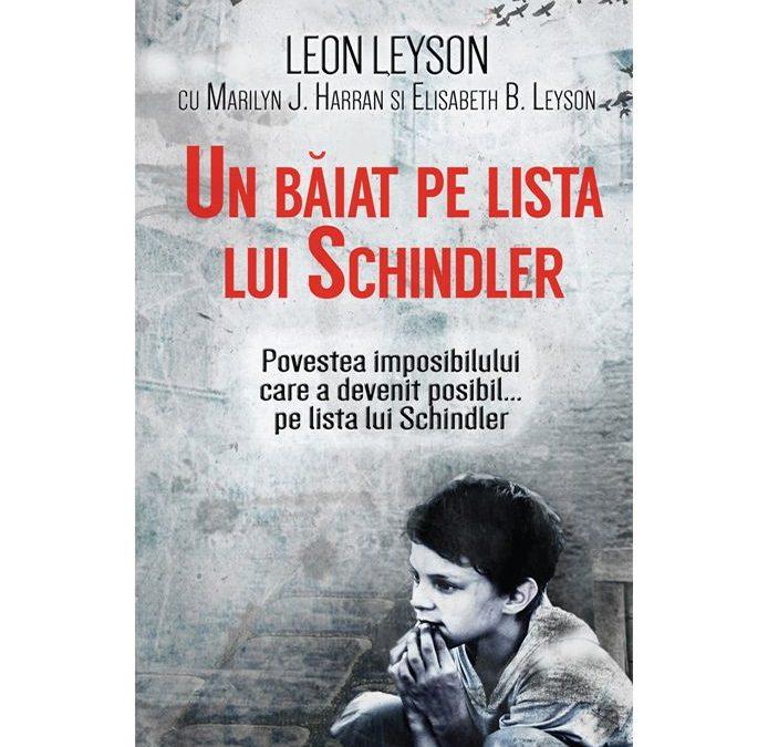 "Recenzie: ""Un băiat pe lista lui Schindler"" de Leon Leyson"